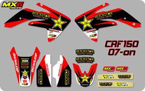 ROCKSTAR ENERGY MOTOCROSS GRAPHICS STICKERS DECAL KIT HONDA CRF150 CRF