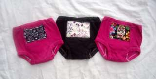 New Girls Toddler Rockabilly Punk Potty Training Pants Black Pink