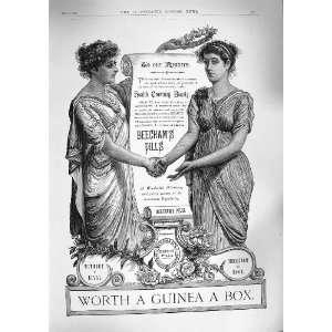 1888 ADVERTISEMENT BEECHAMS PILLS HELENS LANCASHIRE