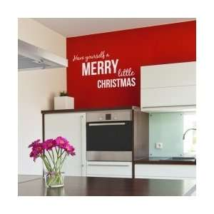 Have Yourself a Merry Little Christmas Wall Decal: Home & Kitchen