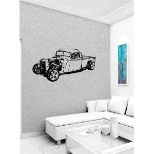 Cute Design Wall Vinyl Sticker Decal Art Mural Old Classic Car Hot Rod