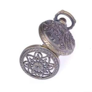 Pocket Watch Flower Shape Key Ring Pendant Watch