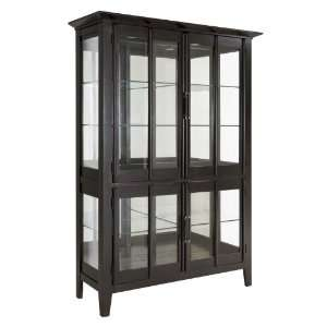 Broyhill Contemporary Dark Charcoal Curio China