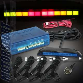 LED DISPLAY 4 HEAD PARKING REVERSE BACKUP SENSOR SYSTEM