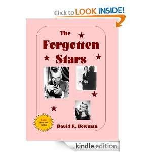 The Forgotten Stars David Bowman  Kindle Store