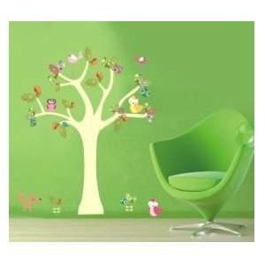 Tree with Birds Wall Sticker Decal for Baby Nursery Kids Room Baby