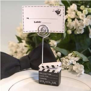 Hollywood Theme Clapboard Placecard Holder Health