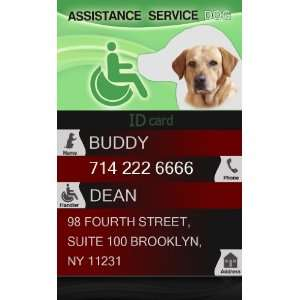 Custom ID Badge   1 Dogs Custom ID Badge   Design#2   Vertical Pet