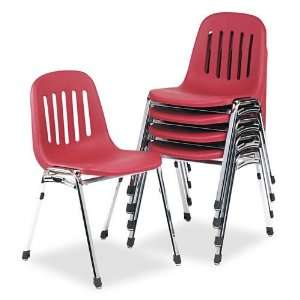Graduate Series Commercial Stack Chairs, Burgundy/Deluxe