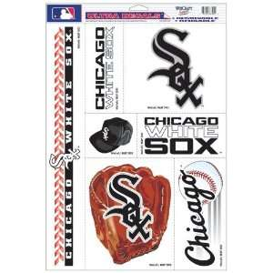 White Sox Decal Sheet Car Window Stickers Cling