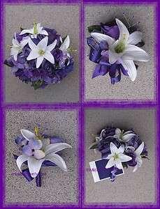 New Regency Wedding Bouquet, Purple Wedding Bouquets, Regency Bridal