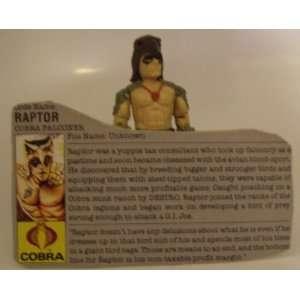 Vintage G.I.Joe Raptor 1987 Hasbro with Card  Action Figure Doll Toy G