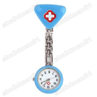 Nurse Doctor Triangle Clip Pendant Pocket Quartz Watch