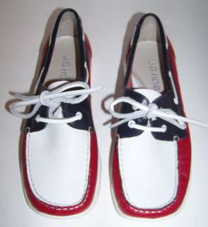 Hooks Red White & Blue Leather Shoes Size 8