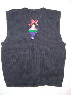 Womens Mens Christmas Holiday Sweater Vest Ugly Tacky Jumper Ornaments