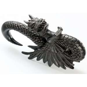 DETAILED EVIL DRAGON Wholesale Horn Hanger Organic Body Jewelry