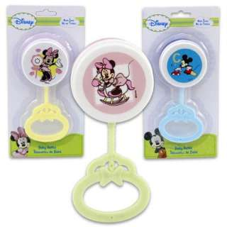 New Mickey Mouse or Minnie Mouse Rattle, Baby Shower, Diaper Cake