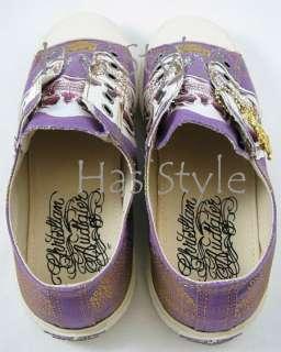 Womens Purple SKULL Low Key Shoe