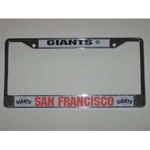 SAN FRANCISCO GIANTS Durable Metal LICENSE PLATE FRAME
