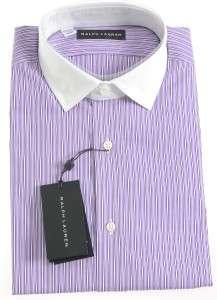 New Ralph Lauren Black Label Purple Dress Shirt 15 $325