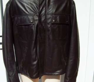 Ralph Lauren Mens black label leather bomber jacket xl