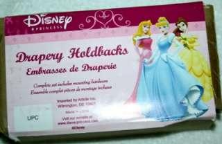 Disney Princess Drapery Drape Holdbacks Tiebacks NIB
