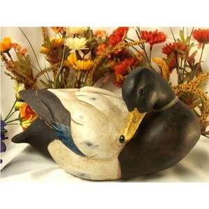 Wooden Look Duck Decoy