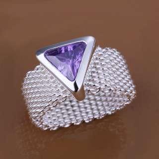 ra210 New Jewelry Silver Swarovski Crystal Ring, size 8