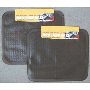 Set of 2 Black Vinyl Floor Mats Automotive