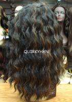 NEW SYNTHETIC FRONT LACE WIG SPANISH WAVE BLACK COPPER