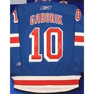 Marian Gaborik Signed New York Rangers Blue Reebok Premiere Jersey