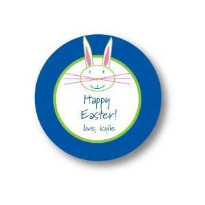 Polka Dot Pear Design   Round Stickers (Easter Bunny