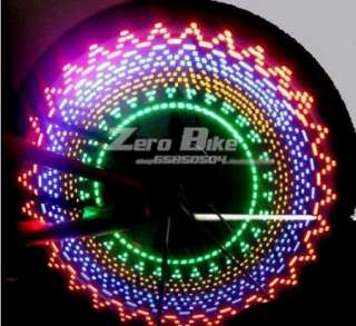 Cycling Bike Bicycle Tire Wheel Valve 16 Led Flash Light With 32 kinds