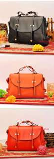 Lady Women Faux Leather Messenger Shoulder Handbag Purse Clutch