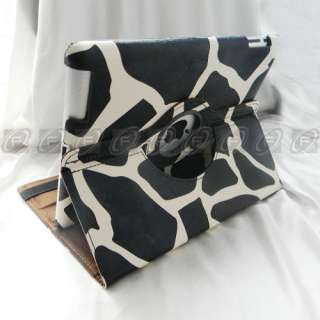 iPad 2 Magnetic Smart Cover PU Leather Case 360 Degree Rotating Swivel