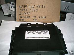 MERCEDES BENZ E320 TRANSMISSION CONTROL UNIT