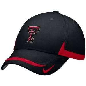 Nike Texas Tech Red Raiders Black Coaches Adjustable Hat