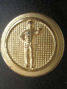 LAWN JOCKEY METAL BRASS BLAZER JACKET COAT BUTTON