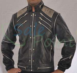 Michael Jackson Beat IT Black Faux Leather Jacket