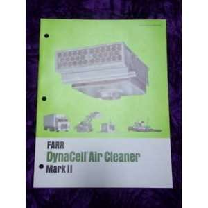 Farr Dynacell Air Cleaner Mark II OEM OEM Owners Manual Farr