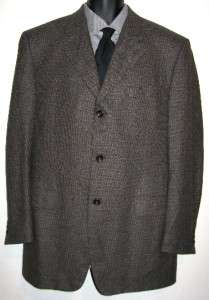 Canali Proposta Sport Coat Jacket Blazer Wool Cashmere Brown Mens 42