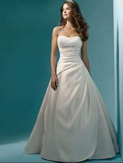 Stock White/Ivory Wedding Bridal Prom Custom Dress Size 2 4 6 8 10 12