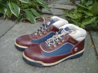 PREPPIE TIMBERLAND Brown Leather & Blue Hiking Boots