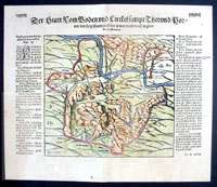 1574 Munster Antique Map View of Ancient Rome & Tyber