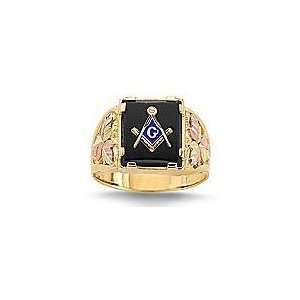 Gold Black Hills Masonic Ring made of 10k Gold: Black Hills Gold