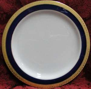 Horchow Cobalt Blue and Encrusted Gold DINNERWARE ITEMS