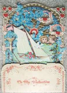 Vintage Pop Out Embossed Valentines Day Card GERMANY
