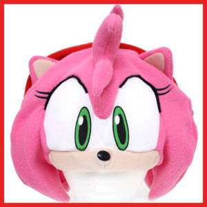 Sonic AMY Rose Plush Hat Beanie Cosplay Costumes  GE