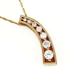 14K Yellow Gold Diamond Necklace Grande Jewelry
