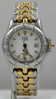Ladies ESQ Esquire by Movado Swiss Two Tone Sport Dolphin Date Watch